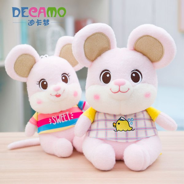 Dressing Little Mouse Stuffed Animal Plush Toys Pillow Car Decoration Cute Valentine's Day Gifts Hot Toys New Arrvial Free Shipping