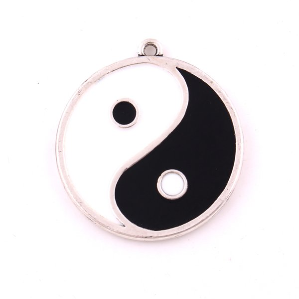 Double-Sided Yin Yang Pentacle Reversible Pendant Double colour Pentagram Religious Jewelry For Men and Women