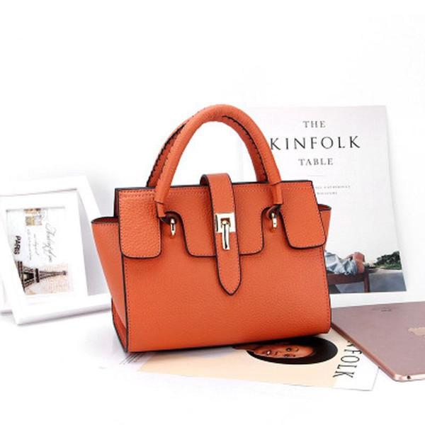 Nova moda portátil bolsa de couro real simples e generoso ombro bolsa feminina diagonal