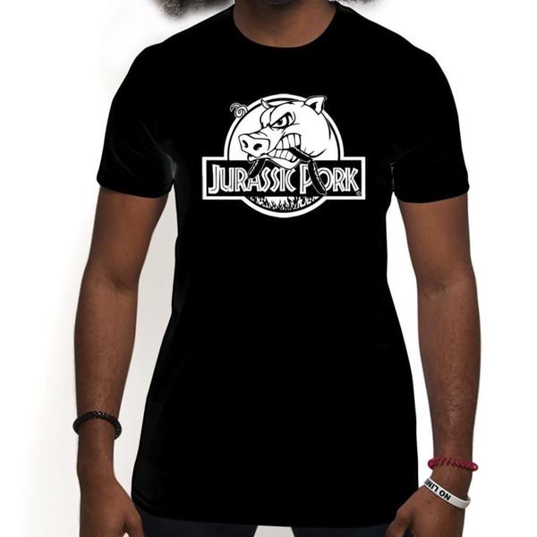 Jurassic Pork Funny BBQ Grill Pig Sausages Sandwich Cooking Mens T Shirt Unisex men women tshirt