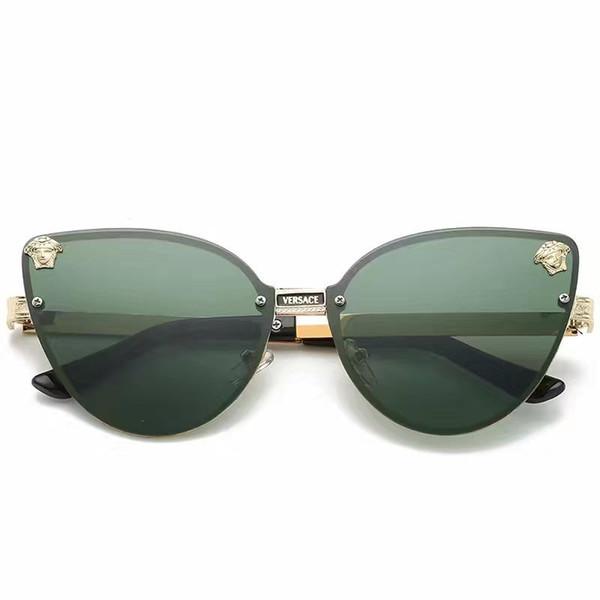 Новый роскошный мужской бренд дизайнер солнцезащитные очки отношение солнцезащитные очки квадратный логотип на объективе мужчины высокое качество солнцезащитные очки блестящие Черное золото Новое с коробкой