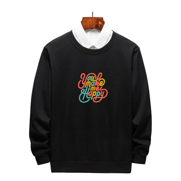 Wholesale Mens & Womens Hoodies with Cute Letter Print Spring & Autumn Fashion Men Casual Pullover Sweater Long Sleeves Hoodie Size M-3XL