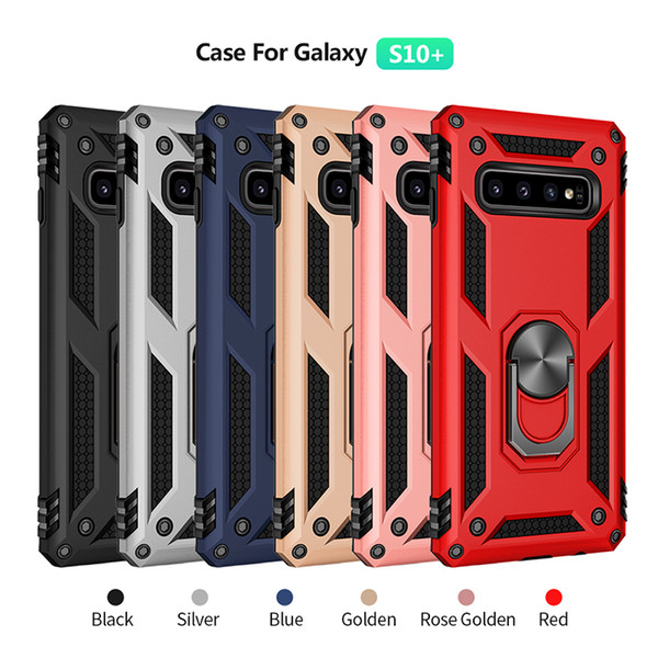 Hybrid Armor Cases With Metal Kickstand For S10 S10+ S10E Samsung High Quality Phone Cover For iPhone X XR XS MAX P30 PRO