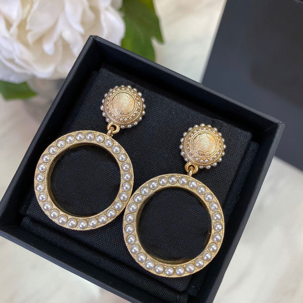 best selling Fashion brand Have stamps designer earrings for lady women Party wedding lovers gift engagement luxury jewelry With BOX CHB0419122