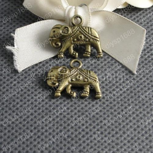 60 pz 22 * 17 * 4 MM bronzo Antico tibetano elefante di fascini pendenti in metallo vintage fai da te collana braccialetto orecchino monili che fanno materiale
