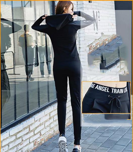 Yoga das mulheres de Três Peças Executar Treino Sportswears Top Curto Moda Feminina Confortável Fino de Três Peças Colete Calças Jaqueta Esportes Um