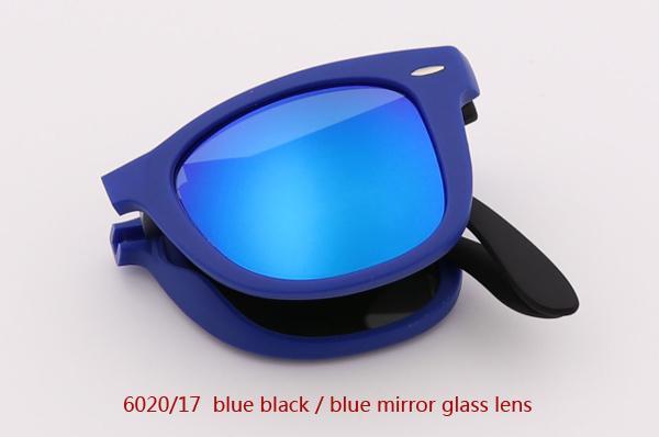 6020/17 أزرق أسود / أزرق عدسة مرآة