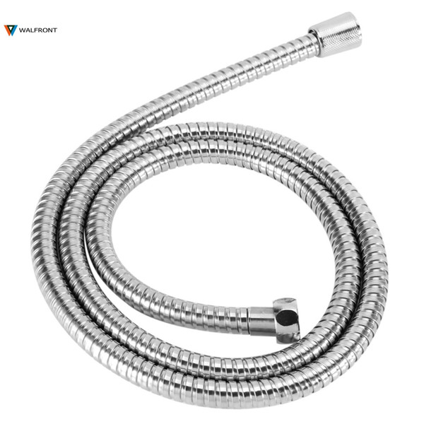 top popular 1.5m Stainless Steel Shower Hose Flexible Bathroom Water Pipe Silver Color Common Pumbing Hoses Bathroom Accessories Wholesale 2019