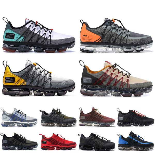 Compre Brand Nike Vapormax Run Utility Zapatillas De Running Para Hombre Negro Blanco Reflect Silver Mediano Oliva Zapatos De Diseño Zapatillas