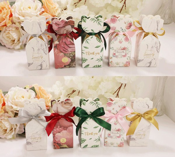 Wedding Favors and Gifts Box Paper Candy Box Chocolate Packaging Box Party Supplies Decorations Giveaways W8828