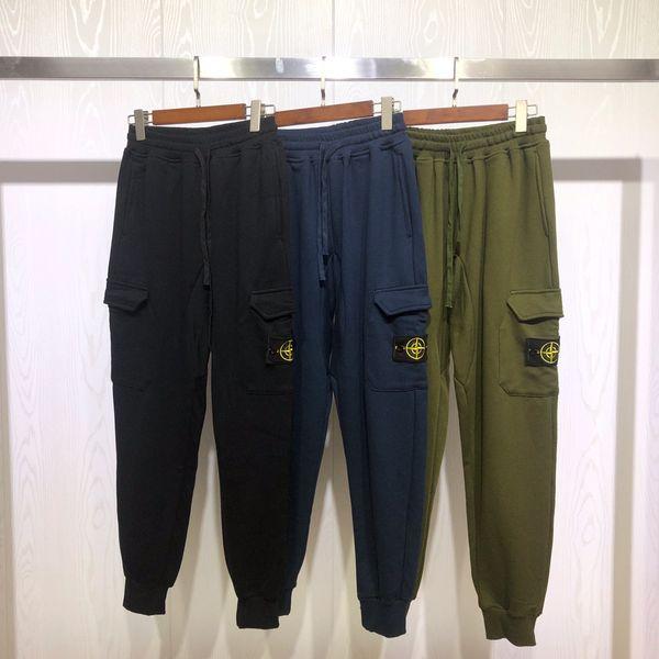 19FW Yeni lüks Marka tasarım pusula siyah mavi açgözlülük parça Pantolon Erkek Kadın moda spor Jogging Yapan Sweatpants Açık Pantolon