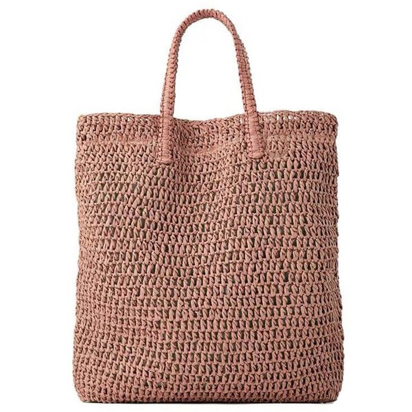 Women Handbag Summer Fresh Woven Handmade Grass Casual Tote Knitted Rattan Bags Beach Bag Designer