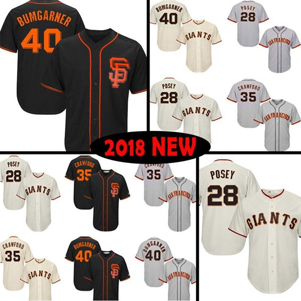 best service 1ffbf 474ff 2019 San Francisco Giants Baseball Jersey 28 Buster Posey 22 Will Clark 35  Brandon Crawford 40 Madison Bumgarner Jerseys 2019 From All_star_jerseys,  ...