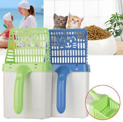 Cat Litter Shovel Quick Easy Pet Cleaning Tool Scoop Cat Sand Cleaning Products Scoops For Cat Toilet Training Kit CCA11066 20pcs
