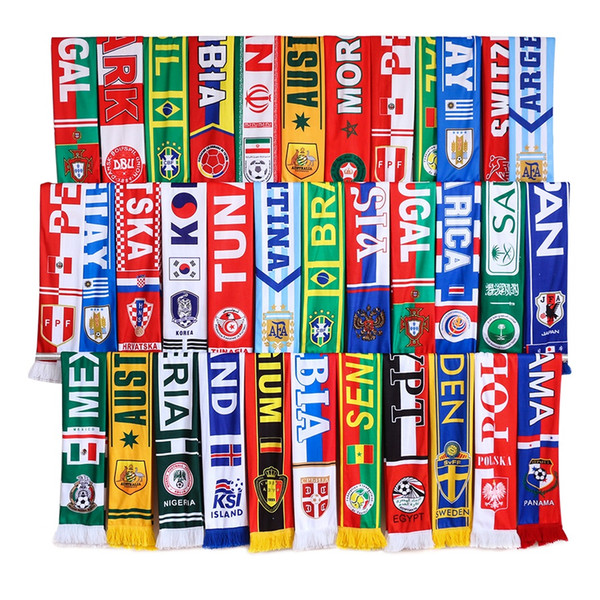 9bd5d6c0e152 High quality custom made printed 100 polyester scarf sublimation football  team scarves with tassels