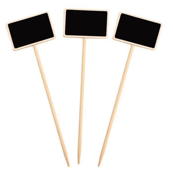 Acheter Tableau En Bois Durable Mini Tableau Noir Créatif Signes Jardin  Fleurs Et Plantes Étiquettes Décorations De La Maison De $0.31 Du ...