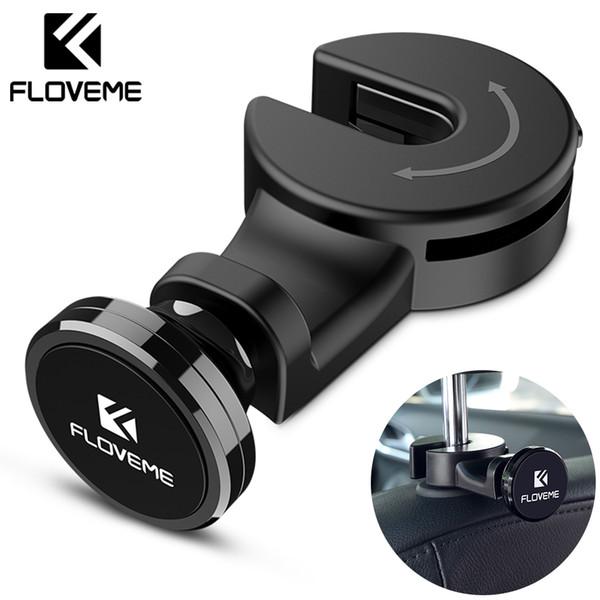 Luxury Magnetic Car Phone Holder Hook Back Seat Headrest Universal For Iphone Ipad Magnet Stand Holder Soporte Mount