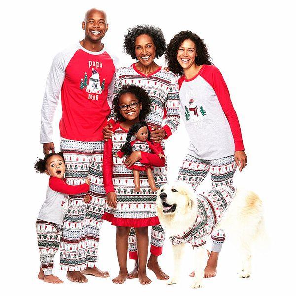 Pijamas de Navidad para la familia Año nuevo Trajes a juego para la familia Madre Padre Niños Juegos de ropa de bebé Muñeco de nieve de Navidad Pijamas estampados Ropa de dormir Camisón