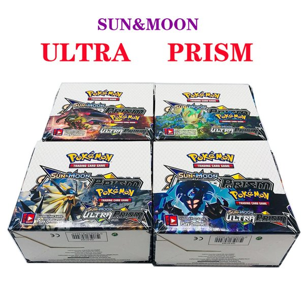 Poket Playing Trading Cards Games Sun & Moon Version English Edition Anime Pocket Monsters Cards Kids Toys 324pcs/lot