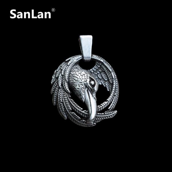 Raven collana vichingo Pendant Il Black Bird Of Mythology