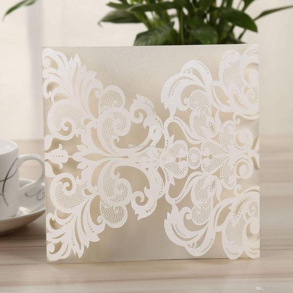 Customized Wedding Invitation Card Cover In Laser Cut Invitation Cards For Wedding Elegant Dinner Invites Envelope No Inner Sheet Unique Wedding