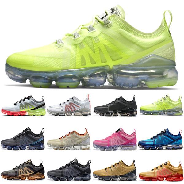 Nike Air Vapormax Plus 2019 Erkek Kadın Koşu Ayakkabıları Üçlü Siyah Gümüş Volt Kraliyet mavi Altın Kırmızı Gri Pembe işık Tasarımcı Trainer Spor Sneaker İndirim satış