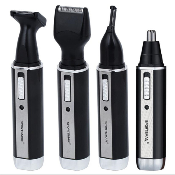 4 in1 electric nose hair trimmer man grooming kit beard shaver eyebrow trimmer nose cut razor sideburn hair clipper cutter shave
