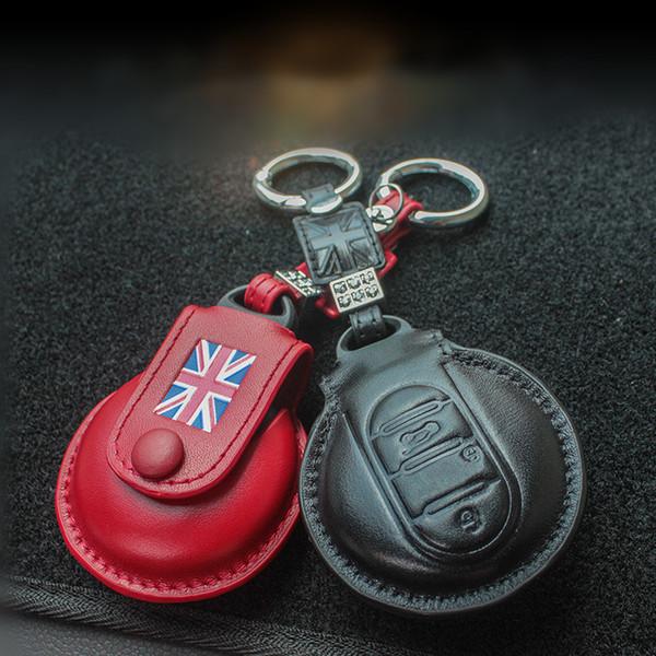 Housse de protection en cuir pour clé de voiture en forme de sac pour Mini Cooper JCW Un F54 F55 F56 F60 avec porte-clés