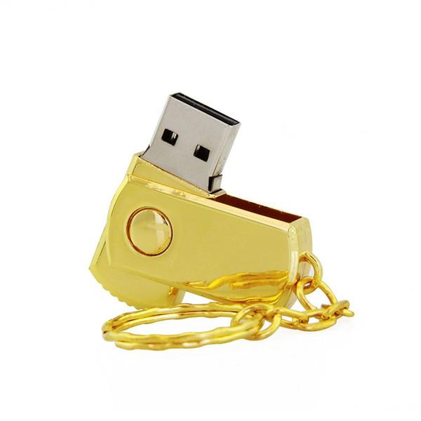 Real capacidade pendrive usb flash drive de metal usb2.0 8 gb 16 gb 32 gb 64 gb 128 gb de memória flash USB pen drive pen com anel chave
