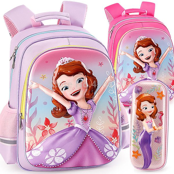 New 3D Mermaid Princess Girls School Bag Pencil Case For Kids Children Elementary Primary School Book Backpack Bag