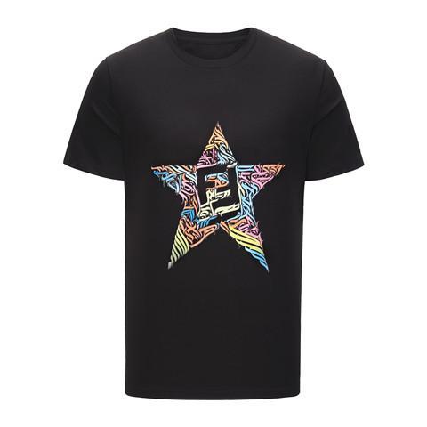 F brandneue Art und Weise der Männer kurze Ärmel gedruckt T-Shirt FF11157 Harajuku lustige Männer und Frauen T-Shirts Hippie o Kragen kühlen Blazer