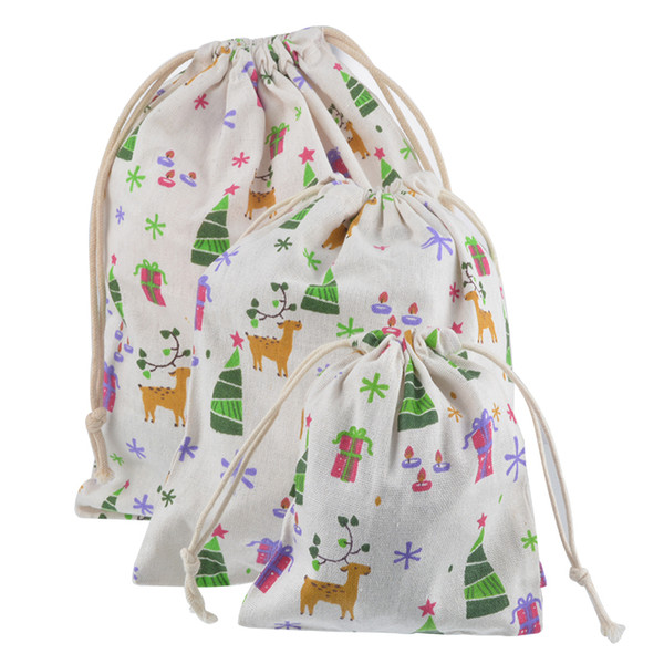 Urijk Christmas 2018 Gift Bag Baby Toys Collection Bags Drawstring Storage Pouch New Year Gift Packaging Holder Travel Organizer