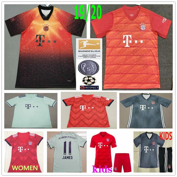 0505bc06eff 2019 2020 Bayern Munich Soccer Jerseys LEWANDOWSKI ROBBEN MULLER JAMES  KIMMICH TOLISSO Custom 19 20 men women kids youth football shirt