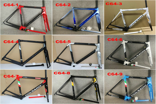 Colnago C64 cuadro de bicicleta de carretera Marco de bicicleta de carbono Mate brillante cuadro de carretera de carbono 48 cm 50 mm 52 cm 54 cm 56 cm