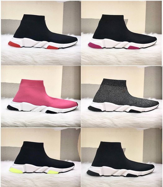 New Paris Speed Trainers Knit Sock Shoe Original Luxury Designer Mens Womens Sneakers Cheap High Top Quality Casual Shoes With Box