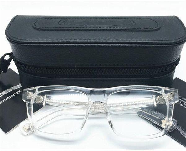 Классический бренд коробка обед-очки кадр унисекс площади импортированных чисто планка + металлические украшения 56-18-143 рецепт galsses полный набор случаев