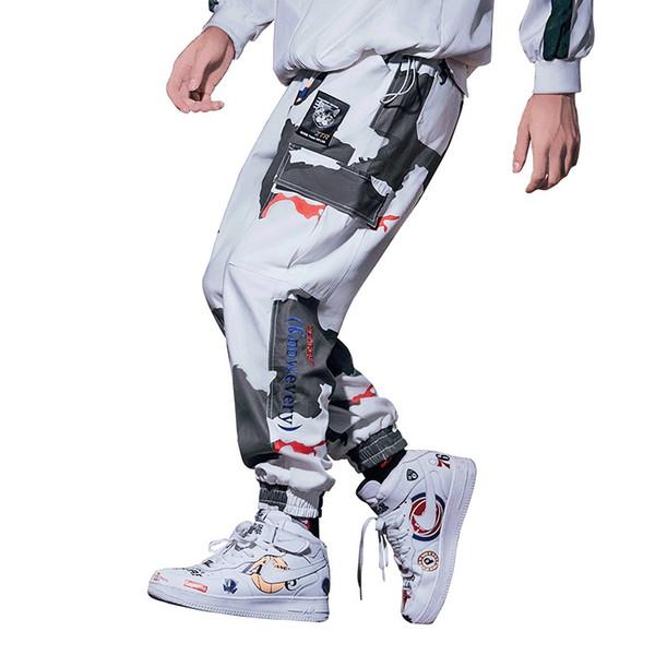 Bormandick Pantalones causales para hombre Pantalones elásticos holgados  sueltos Pantalones de chándal Pantalones casuales Hip Hop 94a4b60c93e