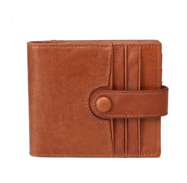 Genuine Leather Men Wallets & Holders New RFID anti-magnetic leather wallet Men's wallet Business fashion multi-card holder Clutch bag