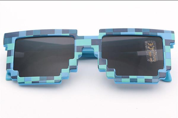 2019 Neuheit Vintage Mosaik Sonnenbrille für Kinder Square Unisex Pixel Sonnenbrille Trendy Mosaik Brille Kids Party Prop 7181