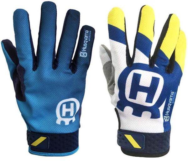 NEW 2019 Husqvarna Motocross Racing BMX ATV Off full finger gloves Road Motorcycle gloves Riding Mountain Bike MX