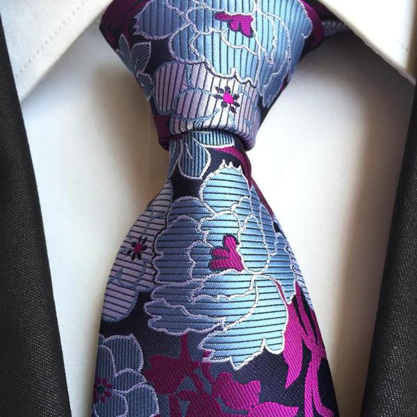 Büyük Çiçek Erkekler Boyun Ties 8 cm Kravat Düğün İş gömlek Tie Parti Hediye Moda Noel aksesuarları