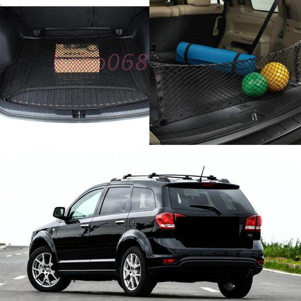 2x For Dodge Grand Caravan Intrepid Journey Magnum Neon model Car Auto Rear Trunk Cargo Organizer Storage Nylon Plain+Vertical Nets DIY