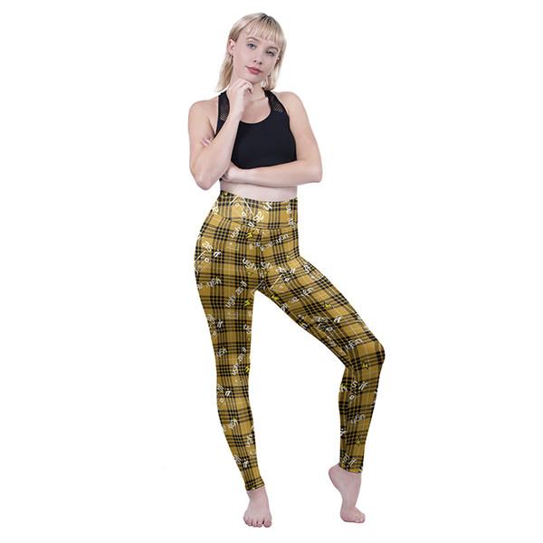 Fille haute taille Leggings Ugh comme si plaid 3D numérique pleine impression crayon skinny fit femme confortable pantalon dame Jeggings extensible (Y601682)