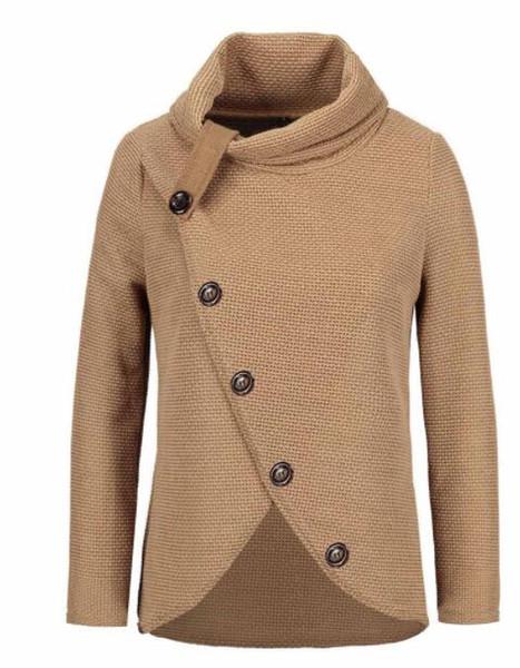 Donne in maglia pullover a maniche lunghe o collo ragazza Solid pullover delle parti superiori camicetta donne camicia pullover invernali abbigliamento taglie forti 4XL