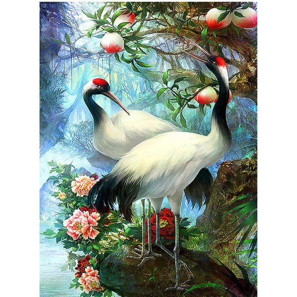 5D Diamond Embroidery Diamond Mosaic Lovers Birds Pictures Cross Stitch Knitting Needles Wedding Decoration Hobbies And Crafts