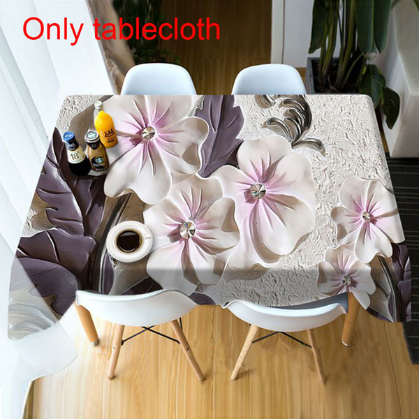Floral Print Party Mat DIY Soft Dustproof Cover Modern Home Decoration Wedding Accessories Hotel Table Cloth Dining Room