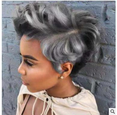 New Hot-selling Wigs in 2019 Spot Direct Sale by American and European Fashion Ladies Mixed Color Short Curls Manufacturers
