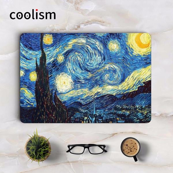 Наклейка для ноутбука под звездным небесным искусством Ван Гога для Macbook Decal Pro Air Retina 11 12 13 15 дюймов Full Mi Mac Book Наклейка T6190615