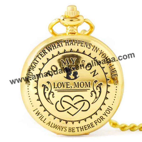 Acheter à Mon Fils Je Taime Cadeaux à Fils De Papa Mon Cadeaux Danniversaire Montre De Poche Personnalisée De 27517 Du Guojiangjewelry
