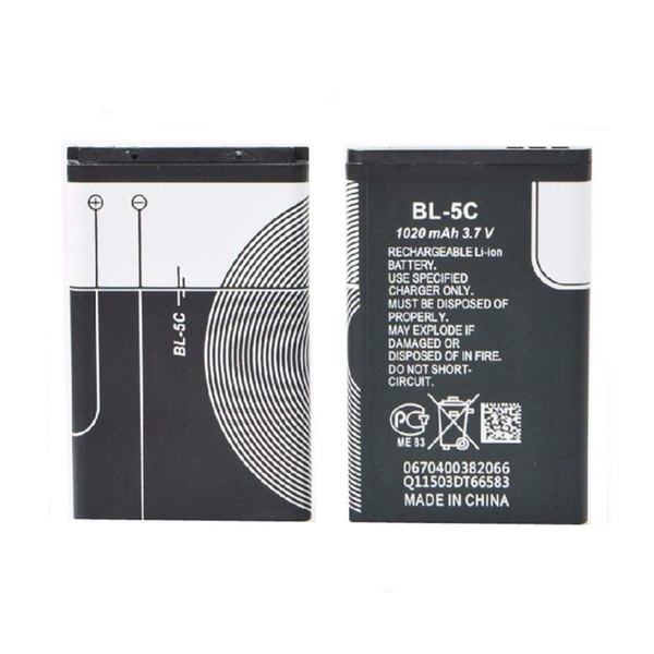 best selling NEW High Quality 1020mAh BL-5C BL5C Replacement Mobile Phone Battery Batteries for Nokia 1112 1208 1600 2610 2600 n70 n71 BL 5C